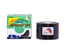 Kinesiology Tape 5cm x 5mt BLACK (6 Pieces)